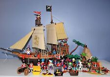 Playmobil Pirate Ship Accessories Treasure Chest Raft Vintage LARGE LOT 25 fig