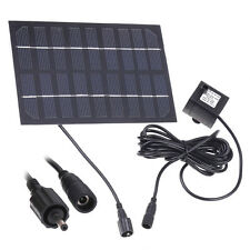 Solar Panel Brushless Water Cycle 1.8W 9V Pump Pond Fountain US Shipping