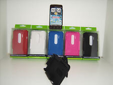 25 PCS WHOLESALE LOT HTC EVO 3D CASE W/ BELT CLIP / KICK STAND / RIGID PLASTIC