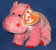 TY BIG KISS the HIPPO BEANIE BABY - NEW - MINT with MINT TAG