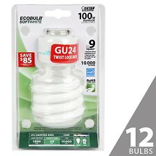 Feit BPESL23TM/GU24 100W Equivalent CFL Twist GU24 Base Bulb (Pack of 12)... New