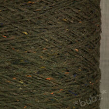 PURE WOOL YARN COUNTRY GREEN TWEED 500g CONE 10 BALLS DOUBLE KNITTING DK WEAVING