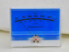 DB Level Header Audio power Amplifier VU meter Classic McIntosh figure Lake blue