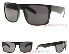 "MATTE BLACK ""Oversized FLAT TOP Sunglasses"" mens womens square xl big large huge"