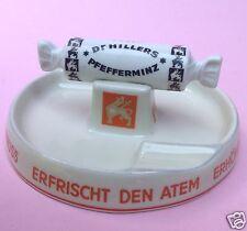 Reklame Porzellan Aschenbecher Ascher Dr. Hillers Pfefferminz Plankenhammer ~50