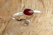 Solid 925 Sterling Silver Toe Ring Carnelian Stone Adjustable Toe ring Toering