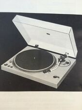 Technics SL-1800 Turntable Original Owners Manual 6 Pages, Collector Item SL1800