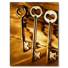 """*Postcard-""""3 Large Old Keys""""  (Picture on Postcard)    -Classic-"""