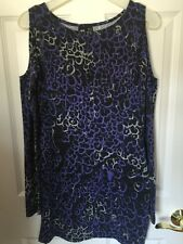 NEW Insight The Cat Attack Leopard Dress Sz M pacsun purple multi cutout sleeve
