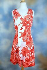 NEW $119 INC INTERNATIONAL CONCEPTS sunset flower fit n flare stretch dress XS