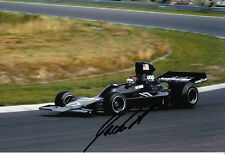 Jackie Oliver Hand Signed UOP Shadow F1 Photo 12x8.