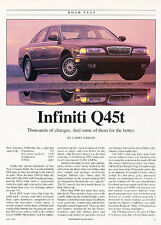 1993 Infiniti Q45t - Road Test -  Classic Old Original Article H15