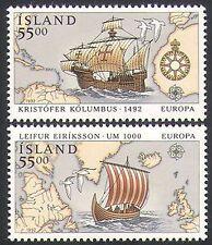 Islandia 1992 Columbus/barcos/Navegación/Náutica/exploración/transporte 2v Set n34656