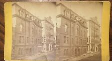 Stereoview Frank Lawrence Masonic Hall, Post Office And Adams Express Bldg 1874