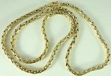 Heavy 9ct solid yellow gold British hallmarked 30 inch long chain necklace 64gms