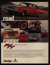 1967 DODGE CORONET R/T Red Muscle Car - 440 Magnum V-8 or HEMI Engine VINTAGE AD