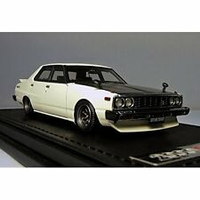 ignition model 1/43 Nissan Skyline 2000 GT-EL (C210) White Resin Model IG0320