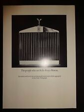 Rolls Royce brochure c1980 - The people who are Rolls Royce Motors