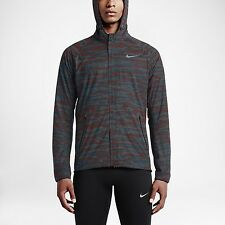 Men's NWT Nike Shield Flash Max 3M Reflective Running Jacket Sz M 684013 011