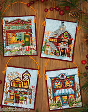 Dimensions Christmas Cross Stitch Kit Winter Village Ornaments