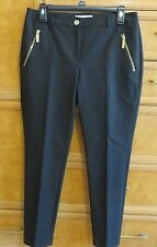 Women's Michael Kors black dress pants gold zippers size 6 brand new NWT $130.00