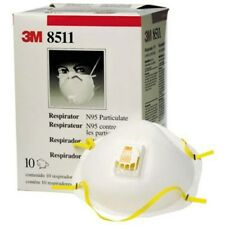 3M 8511 Particulate N95 Respirator MASK FILTER Valve CARTON of 10 FREE SHIPPING