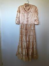 Vintage 1940's Satin Dress -SZ S- Hollywood Glamour- WW2 Reenactment - Pin Up