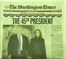 The 45th President Donald Trump Inauguration Newspaper 1/20 THE WASHINGTON TIMES