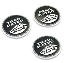 3x New  for Jeep Trail Rated 4X4 Emblems badges Wrangler Grand Cherokee Black