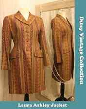 Laura Ashley gold red tapestry jacket - Size 10 - Ditsy Vintage Steampunk