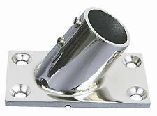 """Stainless Steel Boat Handrail Fitting 60 Deg. Rectangular Base , 7/8"""""""