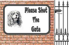 King Charles  Shut The Gate Beware of the Dog  Design Metal Door Sign