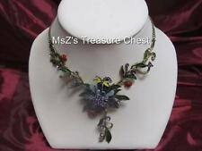 Enamel & Crystal Flower Dragonfly Ladybug Necklace   ** New with Gift Box **