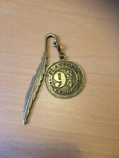 Harry Potter Inspired Bronze Tone Platform 9 3/4 Bookmark
