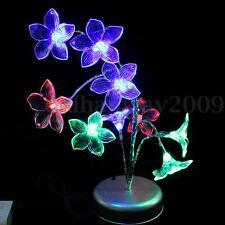 Lily Flower Tree Branch Night Light Table Lamp Mixcolor Decoration Novelty New
