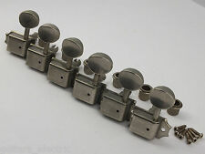 Relic Aged Left Handed KLUSON VINTAGE MACHINE HEADS NICKEL TUNERS SD9105MNR DR