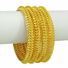 Wedding 18k Goldplated 4PC Bangles Indian Women Ethnic Traditional Jewelry 2*4