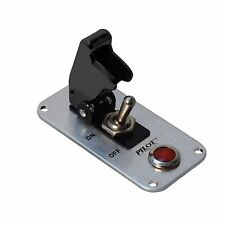 Black Safety Cover Aircraft Boat Toggle 12V Switch Red Indicator Light