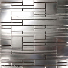 Sample Matte Industrial Stainless Steel Pattern Mosaic Tile Kitchen Backsplash