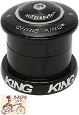"CHRIS KING INSET 5 BLACK 1-1/8""--1.5"" 49MM THREADLESS BICYCLE HEADSET"