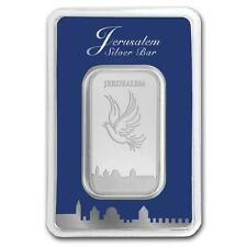 ISRAEL COINS 2016 JERUSALEM DOVE OF PEACE .999 1oz PURE SILVER BAR IN ASSAY