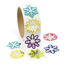 300 FROZEN Winter SNOWFLAKE Stickers Christmas Cards Gift Bags birthday favors