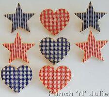 HEART OF THE HOME  Star Folk Art Stitch Effect Novelty Dress It Up Craft Buttons