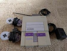 Super Nintendo NES Game Console, 2 controllers, power cord, TV cord  Untested