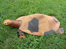 "Large Original  Wood Carving Sculpture Turtle 17"" x 9 1/2"""