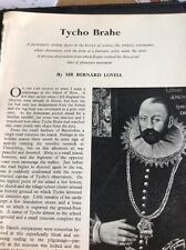 T1-8 Ephemera Picture 1963 Article Tycho Brahe Astronomer Bernard Lovell