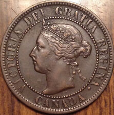 "1900 NO ""H"" CANADA LARGE CENT SUPERB TOP HIGH GRADE BEAUTY SCARCE PENNY !"