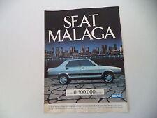 advertising Pubblicità 1987 SEAT MALAGA