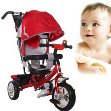 New Baby Child 3 Wheel Bike Infant Pram Toddler With Sun Canopy Trike Handle