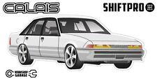 VL Calais Holden Commodore Sticker - White with Factory Rims - ShiftPro Brand